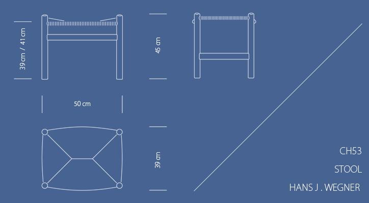 CH53 スツール ビーチ ソープ仕上げ 詳細6