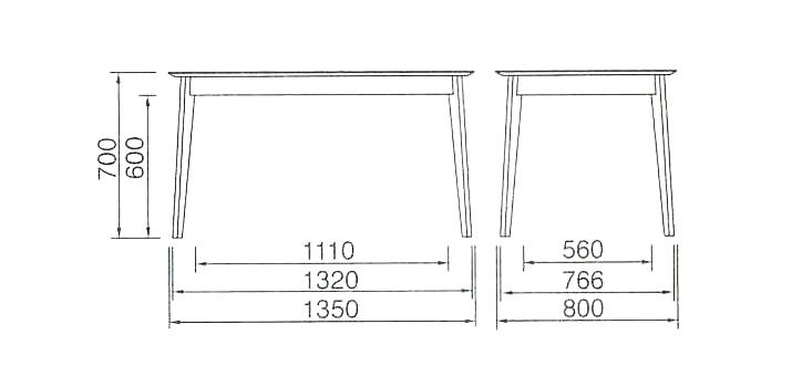DT-03-135 ダイニングテーブル   モカブラウン 詳細5