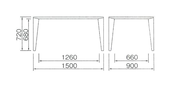 DT-03-150 ダイニングテーブル   モカブラウン 詳細5