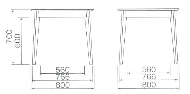 DT-03-80 ダイニングテーブル   モカブラウン 詳細3