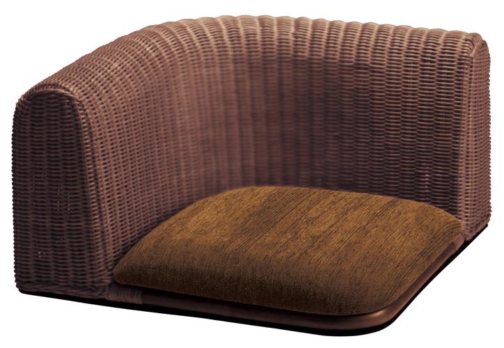 RA-803 ラタン座椅子 ダークブラウン 詳細1