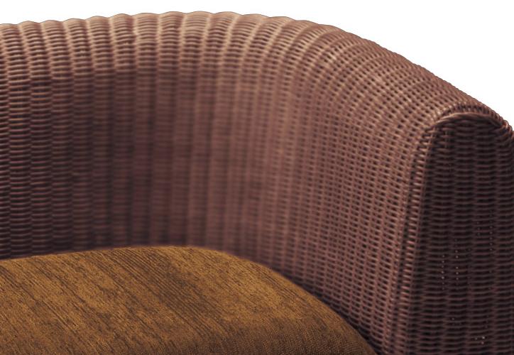 RA-803 ラタン座椅子 ダークブラウン 詳細2