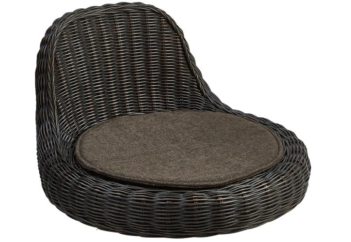 ラタン座椅子 RA-804 ブラックウォッシュ 画像1