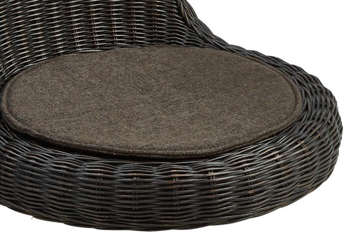 RA-804 ラタン座椅子 ブラックウォッシュ 詳細 3