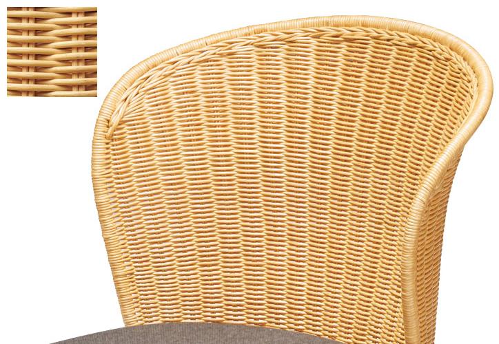 RA-808 ラタン座椅子 ダークブラウン 詳細2