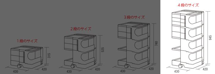 ボビーワゴン レッド 4段 詳細8