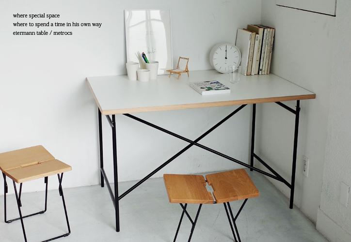アイアーマンテーブル 1600幅 ブラック 詳細13