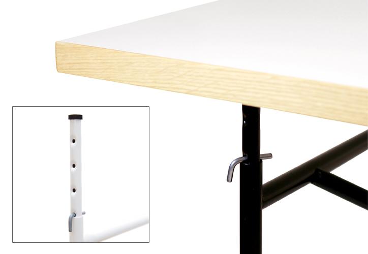 アイアーマンテーブル 1600幅 ブラック 詳細4