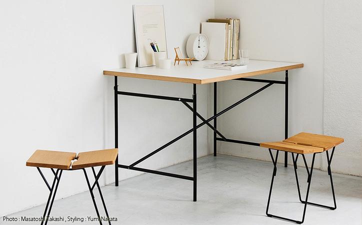 アイアーマンテーブル 1400幅 グレ- 詳細7