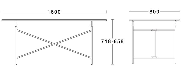アイアーマンテーブル2 ブラック 詳細9