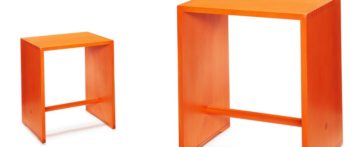 ウルムスツール オレンジ