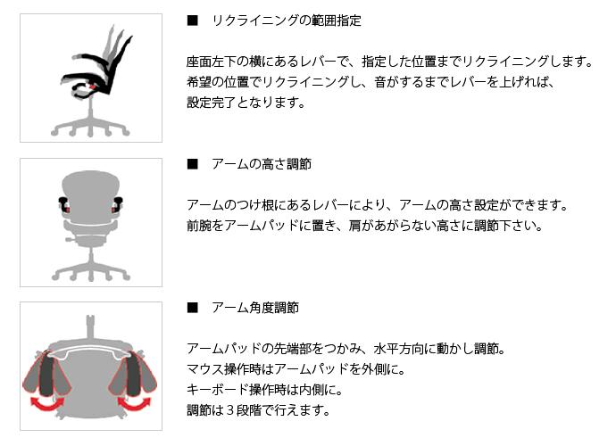 アーロンチェア グラファイト詳細8
