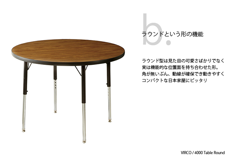 TR-4274 VIRCO 4000 Table Round S 2