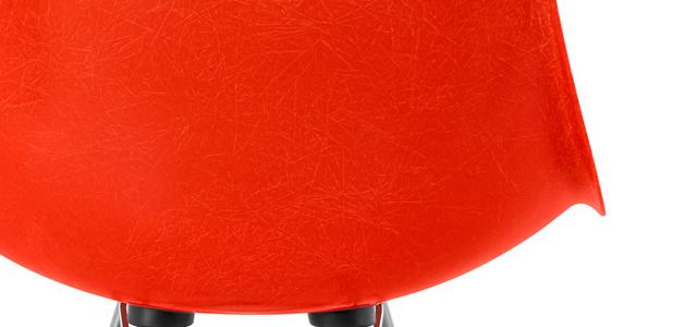 イームズファイバーグラスシェルチェア 114レッドオレンジ