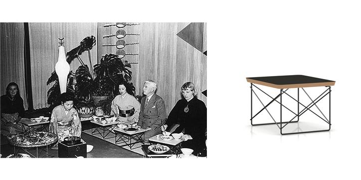 LTRT イームズワイヤーベーステーブル ウォールナット×トリバレントクローム 詳細7