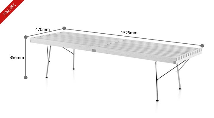 ネルソンベンチ 60M メープル 詳細11
