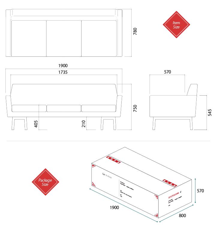 SVE-SF007 float sofa 3人掛けソファ 詳細9